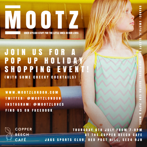 Mootz Kids Pop Up Holiday Shop and Cocktail Evening