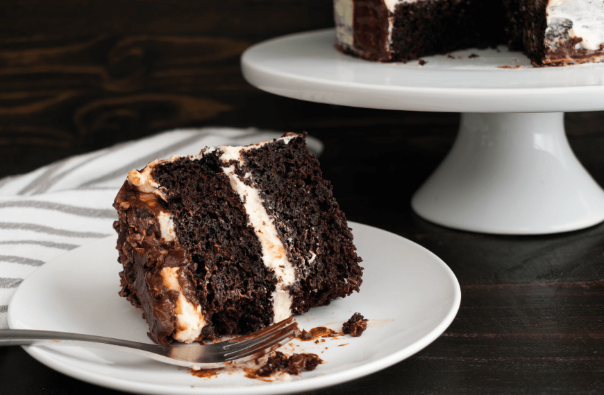 Guinness Cake with White Chocolate Icing